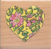 Marna Briar Heart Wood Mounted Rubber Stamp