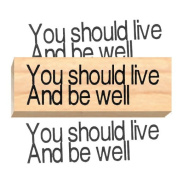 Ruth's Jewish Stamps Wood Mounted Rubber Stamp - Live Be Well