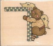 Sleeping Bear Corner Sandi Gore Evans Wood Mounted Rubber Stamp