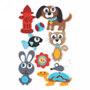 BasicGrey Max and Whiskers Woollies Felt Sticker