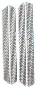 Flip Flop Bling Rhinestone Strips, 4-pack, Turquoise/Clear