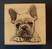 French bulldog rubber stamp WM P31