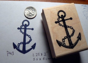 Anchor with chain rubber stamp P43