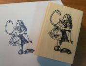 Alice in Wonderland Flamingo Croquet Wm Rubber Stamp P13