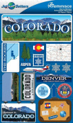 Reminisce Jet Setters 2 3-Dimensional Sticker, Colorado