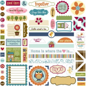 Bella Blvd Label Additions Honey I'm Home Cardstock Stickers