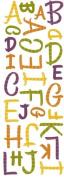 Momenta Glitter Puffy Alphabet Sticker, Antique