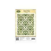 JustRite Stampers Cling Stamps - Damask Wallpaper Background