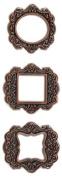 Momenta Metal Frame Three Piece, Copper Scrolls