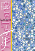 Creative Paper 2-Tone Paper Hearts for Card Making, 215gm, A-4 Size, Blue
