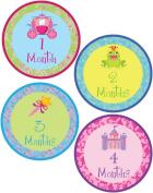 Princess Themed Onesie Stickers w/ Damask Pattern - Newborn Stickers - Photo Prop Sticker - Monthly Onesie Sticker