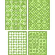 Cuttlebug Cricut 4-Piece Decorative Tile Set
