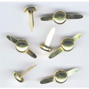 HyGlo Deco Fasteners BRASS TOP 0.8cm 50 Per Tub