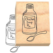 Ruth's Jewish Stamps Wood Mounted Rubber Stamp - RX soup