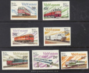 Vietnam Stamps - 1988, Sc 1893-9, VN Code # 555, Modern locomotives, Imperf, MNH, F-VF