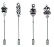 Karen Foster Design 7.6cm Scrap Sticks Baroque Pewter, 4-Piece