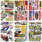 Dirt Bikes Motorcycles Motocross Supercross Lot 6 vinyl decals stickers D6033