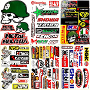 Biker Motorcycles Supermoto Motard Motocross Lot 6 vinyl decals stickers D6043