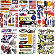Motorcycles Motocross Dirt Bike Supercross ATV Lot 6 vinyl decal stickers D6012