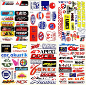 Cars Motorsport Nhra Drag Racing Lot 6 Vinyl Decals Stickers D6052