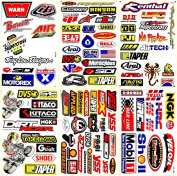 Dirt Bike Motocross Motorcycles Supercross ATV Lot 6 Vinyl Decals Stickers D6017