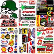 Dirt Bikes Motorcycles Motocross MotoGP Lot 6 vinyl decals stickers D6042