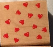 Hearts Abound - Rubber Stamp by Rubber Stampede #A909E