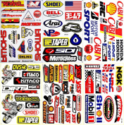 Motocross Motorcycles Supercross Dirt Bike ATV Lot 6 Vinyl Decals Stickers D6018
