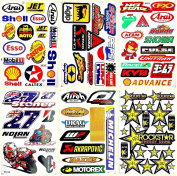 Supercross Motocross Motorcycles Dirt Bikes Lot 6 vinyl decals stickers D6035