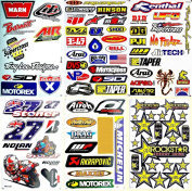 Supercross Motorcycles Motocross Dirt Bike ATV Lot 6 vinyl decals stickers D6013
