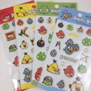 Angry Birds Stickers Set of 4 72 Stickers