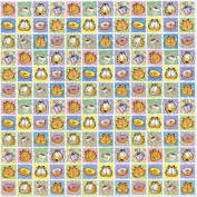 Garfield the Cat Squares 30cm x 30cm Scrapbook Paper - Set of 2 Sheets