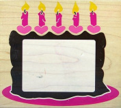 Birthday Cake Frame - Rubber Stamp #Z794G