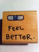 Feel Better with Bandaid Rubber Stamp