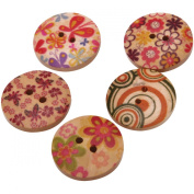 Fabscraps BE1 003 Hand Painted Wooden Buttons 150 Per Stacking Container