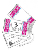 Three Designing Women Designer Luggage Tags, Pink Toile Collection