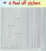 JEJE Produkt 6-Pack Peel Off Stickers with Borders Silver