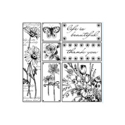 Magenta Cling Stamps Life Is Beautiful