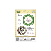 JustRite Stampers Cling Stamps - Christmas Labels Twenty-two
