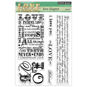 Penny Black Decorative Rubber Stamps, Love Chapter