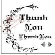 Something Tattered Thank You Filigree Clear Stamps, 10cm by 10cm