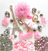 LOVEKITTY -- DIY 3D Rhinestone Eiffel Tower Bling Cell Phone Case Resin Flat back Kawaii Cabochons Deco Kit / Set -- by lovekitty
