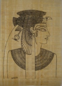 10 Outlined Egyptian Papyrus Sheets for Art Projects and Schools 8x12in 20x30cm