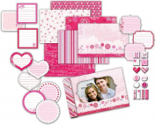 Deja Views Little Yellow Bicycle Sweet Love Matchbook Album Kit Glitter Accents