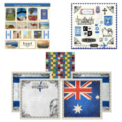 Scrapbook Customs Themed Paper and Stickers Scrapbook Kit, Israel Sightseeing