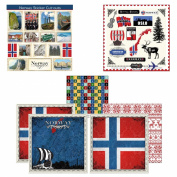 Scrapbook Customs Themed Paper and Stickers Scrapbook Kit, Norway Sightseeing