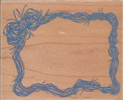 Raffia Frame Wood Mounted Rubber Stamp
