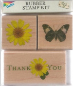 Thank You Wood Mounted Rubber Stamp Set