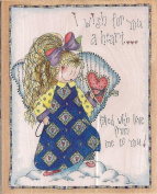 I Wish for You a Heart Wood Mounted Rubber Stamp