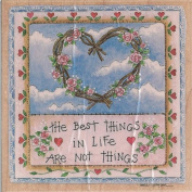 The Best Things in Life Wood Mounted Rubber Stamp